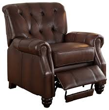 covington u0027 100 leather recliner chair brown transitional