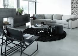 Curved Sofa Tables Curved Sofa Table Living Room Contemporary With Black Chair Black