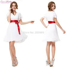 white butterfly sleeve red sashes short girls u0027 white cocktail