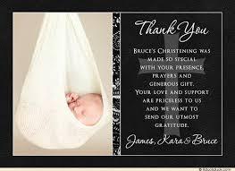 baptism thank you wording christening thank you card photo black white photo