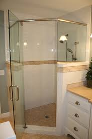 glass shower door half wall bathroom design awesome neo angle shower for your bathroom