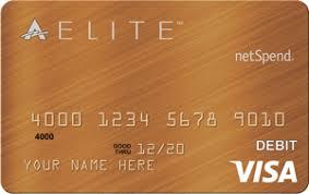 elite debit card prepaid debit card