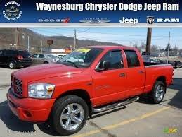 2007 Flame Red Dodge Ram 1500 Sport Quad Cab 4x4 78203388