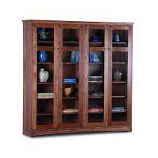 tall bookcase with glass doors double bookcase with glass doors scott jordan furniture in wood