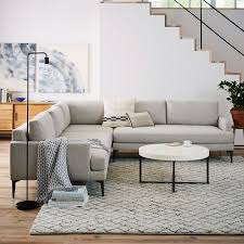 West Elm Sectional Sofa Andes 3 Sectional West Elm