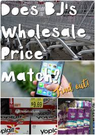 does bj u0027s wholesale club price match