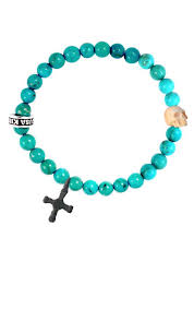 turquoise bead bracelet images Mens turquoise bracelet skull cross bead bracelets for men jpg
