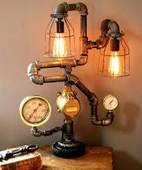 bathroom bulb lighting for table lamp design with steampunk
