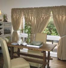 Smocked Burlap Curtains Semi Sheer Cotton Curtain Panel With A Smocked Design Product