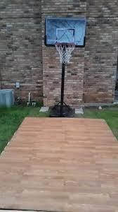 backyard basketball court flooring diy pallet basketball court outdoor furniture pallets