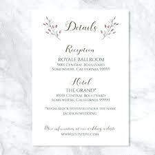 enclosure cards beautiful wedding invitation details card for midsummer enclosure