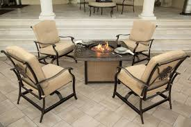 traditions 5 piece outdoor fire pit table set