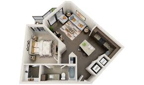 Studio Apartment Layout Planner by 3d Floor Plans 3d Floor Plans 3d House Design 3d House Plan