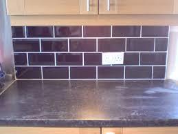 kitchen splashback tiles ideas purple brick tile splashback kitchen ideas
