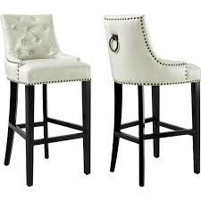 Comfortable Bar Stools With Backs Tov Furniture Tov Bs18 Uptown Diamond Tufted Cream Leather Bar