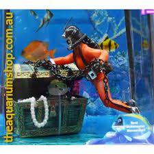 sea treasure aquarium ornament scuba diver treasure
