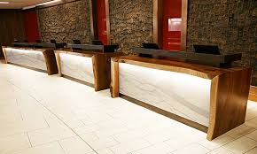 Timber Reception Desk John Houshmand