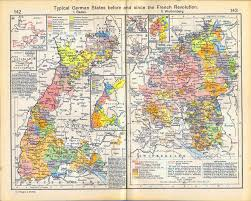 German States Map Of Baden And Wurtemberg 1241 1911
