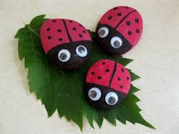preschool crafts for kids ladybug rocks craft
