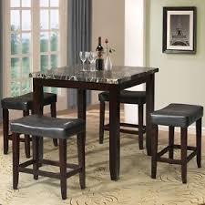 black dining room table set counter height dining set black ebay