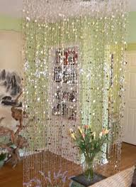 silver metallic bubbles beaded curtains 12 feet long x 3 feet wide