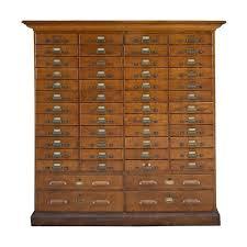 thirty drawer oak library card catalog file at 1stdibs