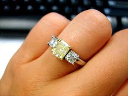 canary engagement ring canary diamonds engagement rings