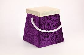 indian wedding gift box favor box in purple golden colour