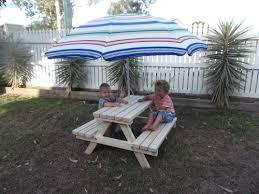 Kids Outdoor Picnic Table 1 5 Years Quality Handmade Kid U0027s Timber Picnic Table