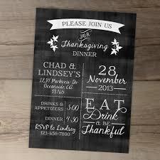 chalkboard thanksgiving invitation invite fall by greylein