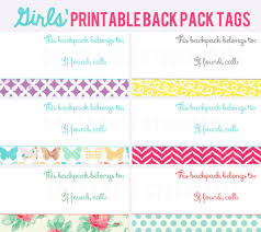 printable name tags free printable back pack tags