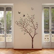 Reusable Wallpaper by J Boutique Stencils Large Tree With Birds Wall Stencil Reusable