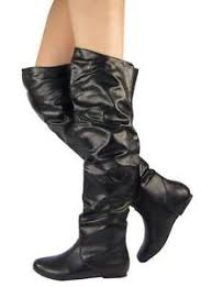 womens boots knee high leather womens black leather boots ebay