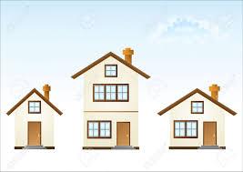 three houses three houses vector illustration royalty free cliparts vectors