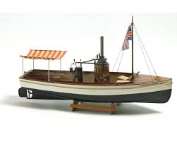 Radio Controlled Model Boat Plans Billing Boats B588 African Queen Steam Boat Model Boat