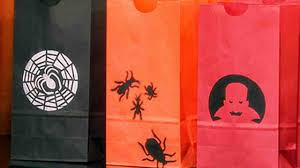 video stencilled halloween treat bags martha stewart