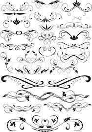 design ornamental element in vintage style vectorized stock