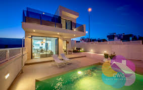 new modern villa with 3 bedroom private pool and sea view
