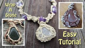 making stone necklace images How to wrap a stone with string jpg