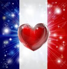 Flag Of Franc Flag Of France Patriotycznej Tle Pirotechnicznego Lub Lekkie