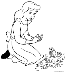 princess sad cinderella kidsf879 coloring pages printable