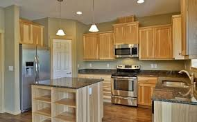 Wooden Cabinets For Kitchen Creative Kitchen Paint With Light Wood Cabinets Below Counter Top