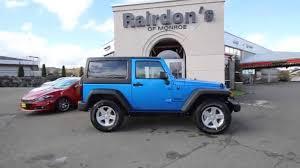 jeep wrangler blue 2015 jeep wrangler sport blue fl545527 everett snohomish