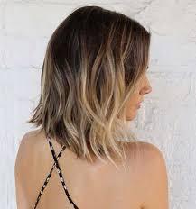 medium length hair with ombre highlights 40 beachy waves short hair short hairstyles 2016 2017 most
