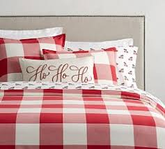 Red Gingham Duvet Cover Duvet Covers U0026 Pillow Shams Pottery Barn