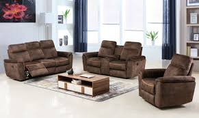 Fabric Recliner Sofa Brown Fabric Recliner Sofa