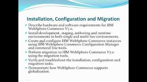 ibm websphere commerce admin training demo session youtube