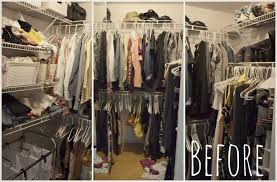 How To Purge Your Closet by The 40 Hanger Closet Before The Purge Living Well Spending Less