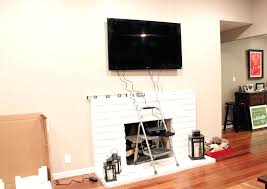 install tv on rock fireplace wall mount above over wiring install