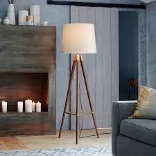 Bedroom Wonderful Best 25 Wood by Wonderful Mid Century Wood Tripod Floor Lamp Walnut West Elm